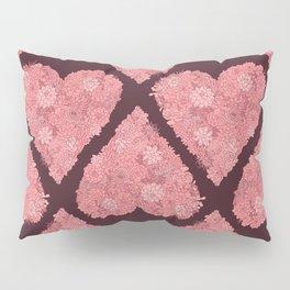 Pink Succulent Heart Pillow Sham