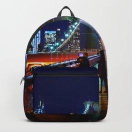 Brooklyn Bridge at Night #2 Backpack