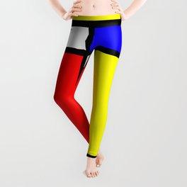 Mondrian 4 #art #mondrian #artprint Leggings