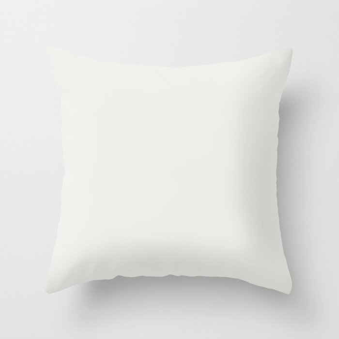 Off White Solid Color Pairs w/ Sherwin Williams 2020 / 2021 Trending Color Pure White SW7005 Throw Pillow