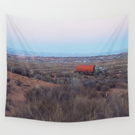 Pastel Sunsets in the Desert, Plus Truck Wall Tapestry