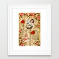 shabby chic Framed Art Prints featuring Shabby Chic by Diego Tirigall