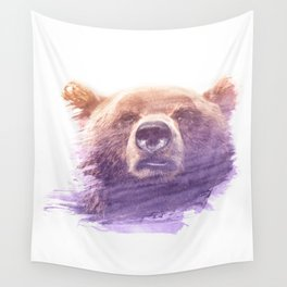 BEAR SUPERIMPOSED WATERCOLOR Wall Tapestry