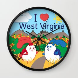 Ernest and Coraline | I love West Virginia Wall Clock