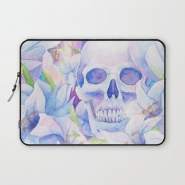 Angel or Devil - Dove, Lily, Skull Laptop Sleeve