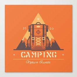 Camping Tippi Canvas Print