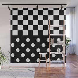 BACKGROUND (BLACK-WHITE) Wall Mural