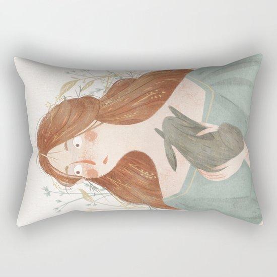 Rabbit heart Rectangular Pillow