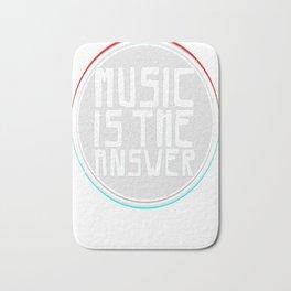 Music is the answer Bath Mat