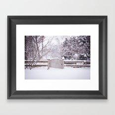 Snow Gate  Framed Art Print