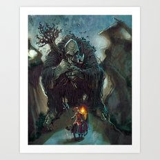 Mountain Troll  Art Print