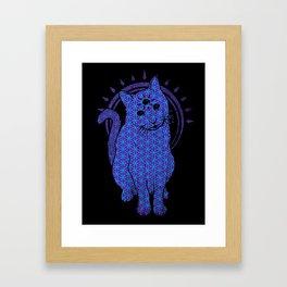 Trippy Cat: 4 Framed Art Print