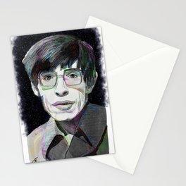 """Stephen Hawking"" Digital, 2018. Original Digital Watercolor Painting Stationery Cards"