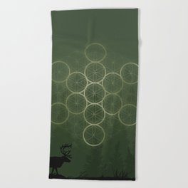 the forest. Beach Towel