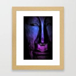 BuddhaFace purpleblue Framed Art Print