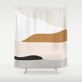 Minimal Art Landscape 2 Shower Curtain