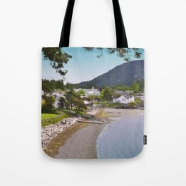 EASTSOUND ON ORCAS ISLAND IN THE PACIFIC NORTHWEST Tote Bag