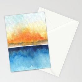 Orange Rays Permeate Stationery Cards