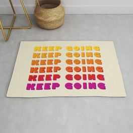 KEEP GOING - POSITIVE QUOTE Rug