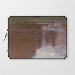 Gustav Klimt - Tranquil Pond Laptop Sleeve