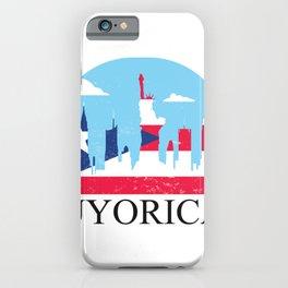 Nuyorian New York Puerto Rico Skyline USA America iPhone Case