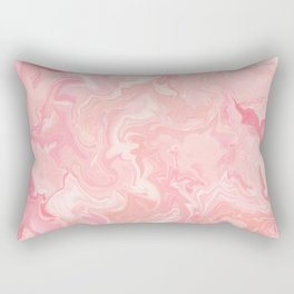 Blush pink abstract watercolor marble pattern Rectangular Pillow