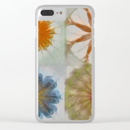 Fulvous Certainty Flowers  ID:16165-113635-96480 Clear iPhone Case