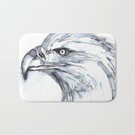 Eagle Portrait (Watercolor Sketch) Bath Mat