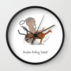 Double Rolling Sobat! Wall Clock