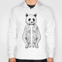 pandas Hoodies featuring Pandas by Benson Koo