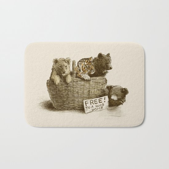 Lions and Tigers and Bears Bath Mat