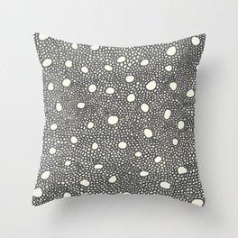 circled holes Throw Pillow