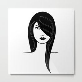 Fashion girl illustration Metal Print