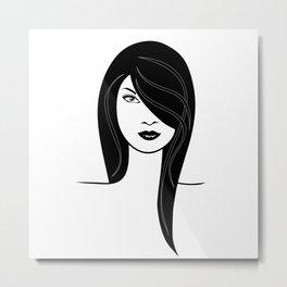 Fashion girl illustration Metal Print