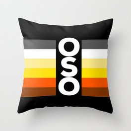 Oso / Bear Flag for LGBT pride or Bear Week Throw Pillow