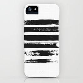 Brush Stroke Print, Brush Stroke Art Poster, Large Poster, Minimal Art Decor, Black and White Print iPhone Case