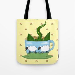 Dragon in a teacup Tote Bag