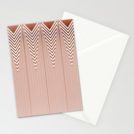 Art Deco Geometric Arrowhead Dusty Peach Design Stationery Cards