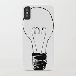 Lightbulb Sketch iPhone Case