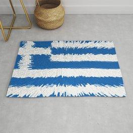Extruded flag of Greece Rug