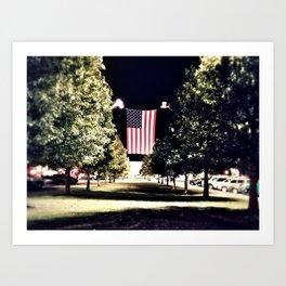 patriotism at the theater Art Print