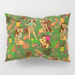 Tiki Temptress on Green Pillow Sham