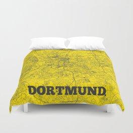 Dortmund Streets Map Duvet Cover