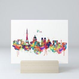Paris Skyline Silhouette Mini Art Print