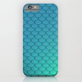 Mermaid Scales Aqua iPhone Case