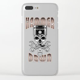 Hammer Down Clear iPhone Case