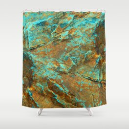 TURQUOISE MINERAL Shower Curtain