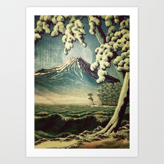 5 Lakes at Moonlight Art Print