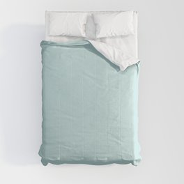 Ultra Light Pastel Aquamarine Blue Green Solid Color Pairs To Sherwin Williams Swimming SW 6764 2021 Comforters
