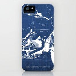 2010 Moto Guzzi Stelvio 1200 4V blueprint iPhone Case